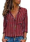 Minetom Vendita Calda Donna Autunno Manica Lunga con Patchwork Felpa con Cappuccio Camicetta Top T Shirt A Rosso IT 46