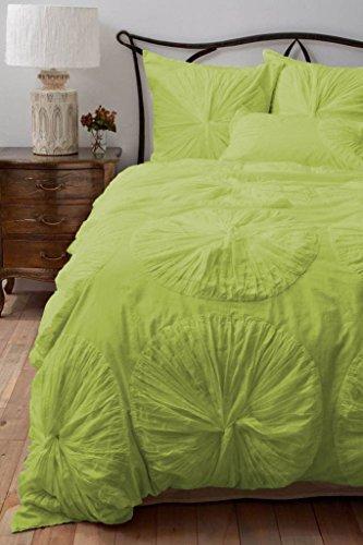 Set Blumen Rüschen SCALABEDDING mit extra Kissenbezüge 300TC ägyptische Baumwolle 5-teiliges Bettbezug-Set king/Cal König Motiv Blätter -