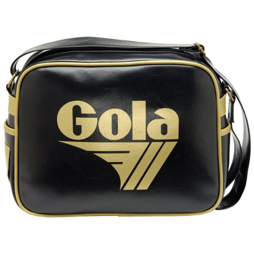 Gola - Harrier, Borsa a tracolla, unisex, nero (black gold), Medium