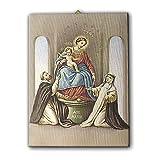 Holyart Quadro su Tela pittorica Madonna del Rosario di Pompei 40x30 cm