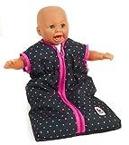 Bayer Chic 2000 792 12 - Puppen-Schlafsack, Dots, blau/pink