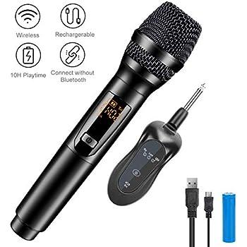 V-10 Smart Kabelloses Mikrofon Funkmikrofon Wireless Karaoke Mic USB Empfänger
