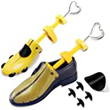 ZusFut 2PCS Hormas Zapatos Mujer Hombre Robusta Ensanchador de Zapatos Ajustable Longitud y Anchura Independiente Horma Ensan