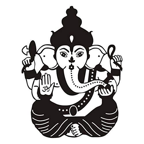 jiushizq Heißer Ganesha Muster Wandaufkleber Wohnzimmer Indische Wohnkultur Aufkleber Kunstwand Benutzerdefinierte Farbe Verfügbar Vinyl Aufkleber Z 84x109 cm