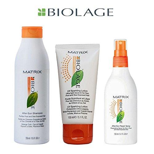 Kit biolage sunsorials - prodotti solari per capelli 3 pz - matrix