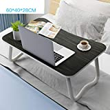 Table pliante, bureau de chambre à coucher Table d'ordinateur portable antidérapante Table portable sur le bureau de lit Table paresseuse Table de dortoir (Couleur : UNE)