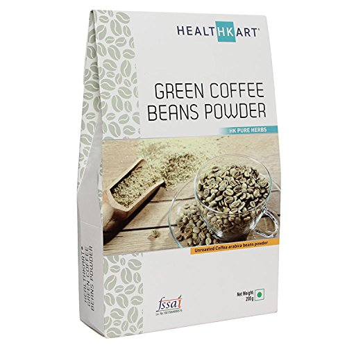 Healthkart 100% Natural Green Coffee Bean Powder For Weight Management - 200Gm
