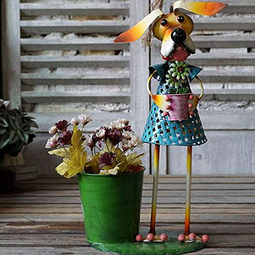 Metall Modell Tin Animal Flower Barrel Blumentopf Dekoration Garten Balkon Dekorative Ornamente Modell