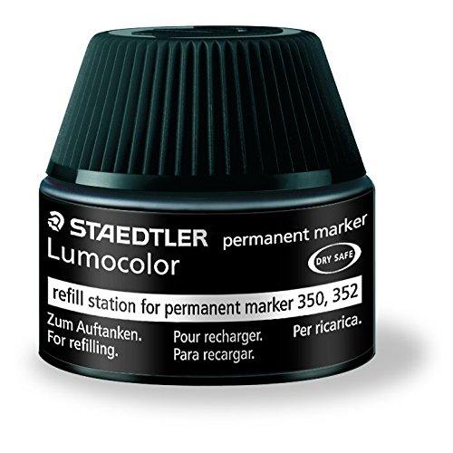 Preisvergleich Produktbild Staedtler 488 50 Lumocolor permanent marker Nachfüllstation schwarz für 350/352, 15-20x Nachfüllen, schwarz