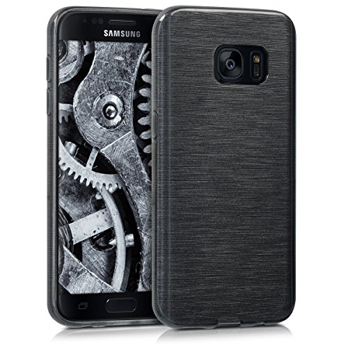 kwmobile Samsung Galaxy S7 Hülle - Handyhülle für Samsung Galaxy S7 - Handy Case in Anthrazit Transparent