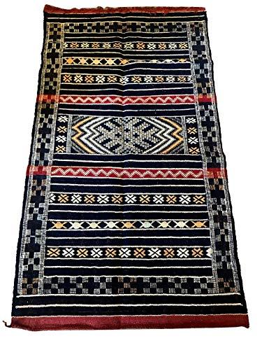 Tappeto kilim berbero marocchino arazzo etnico orientale africano originale lana 1111190918
