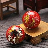 QTZS Chinesische Traditionelle Fitness-Ball Cloisonne Dekompression Handball Rot Drachen Und Phoenix 50mm450g preisvergleich bei billige-tabletten.eu