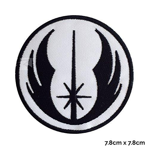 (REAL EMPIRE Echter, Star Wars Patch Jedi-Uniform mit Eisen auf Sew auf Stickerei Fancy Kleid Kostüm T-Shirt Jacke mit Logo)