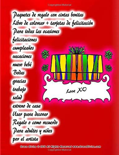 Paquetes de regalo con cintas bonitas Libro de colorear + tarjetas de felicitación Para todas las ocasiones felicitaciones cumpleaños vacaciones nuevo ... casa Usar para decorar Regalo o como recuerdo
