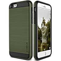 Cover iPhone 6S Plus, VRS Design [Verge Series][Verde Militare] - [Metallo Spazzolato] [Struttura Resistente] [Massima (Gps Carta Pocket Pc)