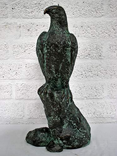 H. Packmor GmbH Bronzeskulptur Adler auf Felsen Vogel Bronze Figur Statue Dekoration