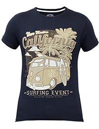 Hommes Californie Surf Plage T-shirts Par Soul Star Manche Courte