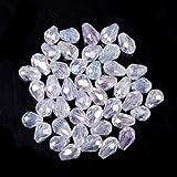 ILOVEDIY 100 Stück Glasperlen zum Auffädeln 8×6mm Kristall Beads zum Basteln DIY Tropfen Form