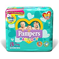 Pampers Baby Dry Mini, Taille 3 (4-9 kg), 28 couches