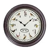 Homescapes Reloj de pared cantos de pájaro ø 30cm