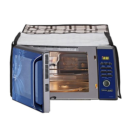 Glassiano Printed Microwave Oven Cover for Samsung 20L Solo Model ( MW73AD - B/XTL)  available at amazon for Rs.399
