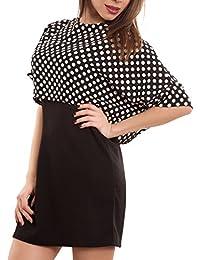 Toocool - Vestito Donna Miniabito Tubino Top Corto Pois Abito Elasticizzato  Nuovo CC-1326 253e13d55f2