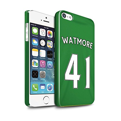 Offiziell Sunderland AFC Hülle / Glanz Snap-On Case für Apple iPhone 5/5S / Pack 24pcs Muster / SAFC Trikot Away 15/16 Kollektion Watmore