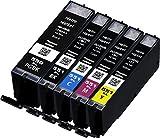 Metro Market 5 Stücke Kompatible Patronen PGI-550 CLI-551 Tintenpatronen Hohe Kapazität für Canon Pixma iP7250 MG5650 MX925 iX6850 MG5550 MG5450 MG6650 MX920 MG5400 MG6450 MG7500 MX725 iP7200