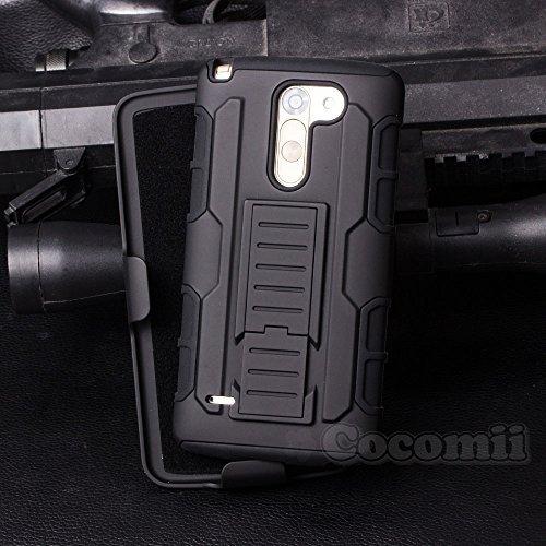 Cocomii Robot Armor LG Stylus 2/Stylo 2 Hülle [Strapazierfähig] Gürtelclip Ständer Stoßfest Gehäuse [Militärisch Verteidiger] Ganzkörper Case Schutzhülle for LG Stylus 2 (R.Black)