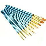 Pasey Pinselset 10-teilig für Nailart,Künstler Pinsel - Acryl Aquarell Runde Spitze Spitze Nylon Haar (1 x 10 Stück) (10 Stück)