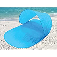Beach Shelter Pop-Up Canopy Cooling UV Tent Sun Shelter Heat Sunburn Protection Camping Fishing Festival Garden Sunbathing Beach Party Sand Sea Holiday Colourful Bright by E Bargains UK