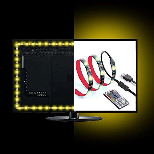 ANSCHE 300CM TV LED posteriore di illuminazione Kit, Telecomando RF 20 colori &modalità RGB 5050 Striscia LED 5VUSB Luminosa impermeabile Flessibile Bias Illuminazione Strip Light per HDTV 50-70