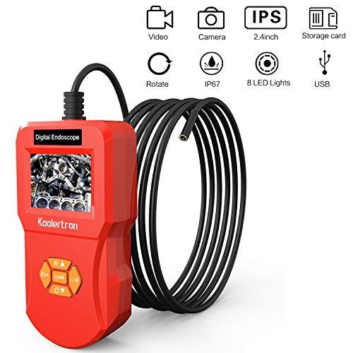 Koolertron Endoscope Industriel Numérique Caméra d'Inspection Écran IPS LCD HD 2.4 pouces...