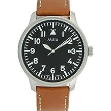 Aristo 3H84 - Reloj, correa de cuero