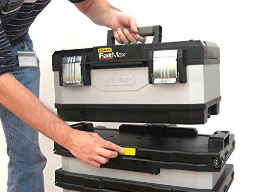 Stanley Fatmax 1-95-622 Rollende Werkstatt Metall-Kunststoff mit Rädern, abnehmbarer Werkzeugbox und herausnehmbarer Trage, 57 x 90 x 39cm - 8