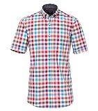 Casa Moda - Comfort Fit - Herren Freizeit 1/2-Arm-Hemd mit Button-Down Kragen (982973200), Farbe:Rot (400), Größe:5XL