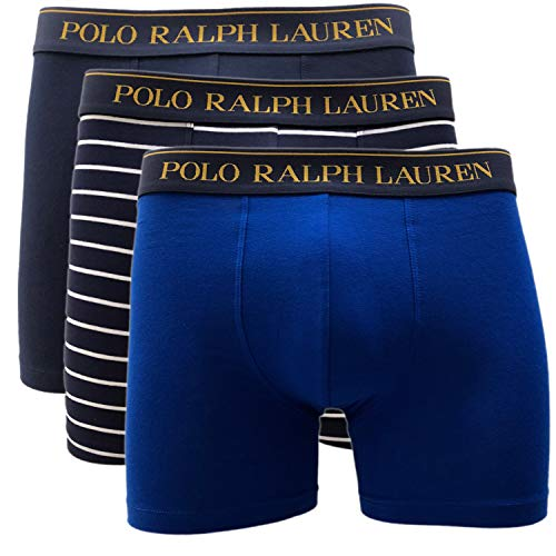 Polo Ralph Lauren 3 Pack Boxer Brief längeres Bein Slipboxer (M, Multi (001))