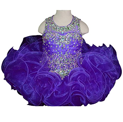 HuaiLian Baby Mädchen (0-24 Monate) Plissee Kleid Gr. M, violett