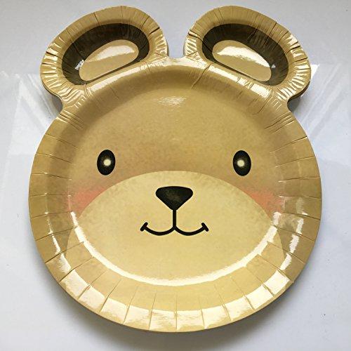 8 Teller * TEDDYBÄR * für Kindergeburtstag oder Mottoparty // Plates Pappteller Partyteller Bär Bärchen Bear Bären-teller