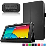 Infiland Premium Vegan Leather Case Cover for 9-Inch Android Tablet inclu. 9' Upgraded Dual Core Android Tablet PC, Haehne 9 Inch Android Tablet, JYJ 9 Inch Android 4.4 Kitkat Tablet PC, YONES 9' AMDROID 4.4 KITKAT TABLET PC, ProntoTec 9 Inch Touch Screen Tablet PC, Tagital T9X 9' Quad Core Android Tablet , TotalTab V3 9', Afunta 9', TabExpress 9' (PLEASE check the complete compatible tablet list under Product Description)(Black)