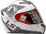 LS2 Full Face Designer Helmet FF-352 Rookie White Black Mat, Tinted Visor, XL - 59 Cms