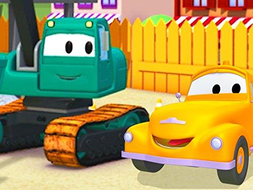 Der Bagger und Tom der Abschleppwagen