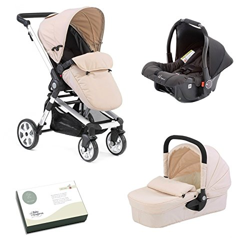 Beep Twist Travel System 3 in 1 prams with car seat (Sandal) 51Rt7OIVe L