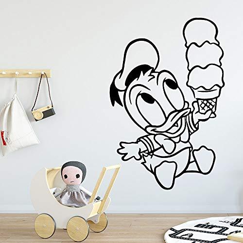hetingyue Adesivo murale Anatra Carina Decorazione Camera da Letto per Bambini Carta da Parati murale Rimovibile 28x41cm