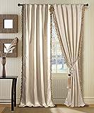 #2: Deco Window 2 Piece Curtain Romani Beige 46