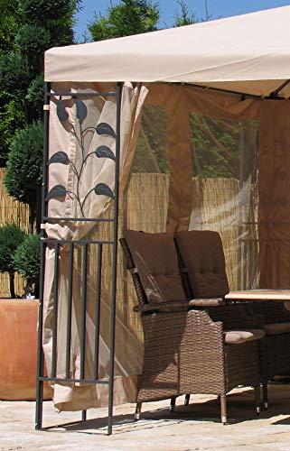 Quick-Star 4 Seitenteile mit Moskitonetz für Blätter Pavillon 3x4m Seitenwand Sand