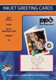 PPD A4 papel de inyección de tinta Tarjeta de felicitación pesado 260 G brillo con sobres x50 hojas-con descuento