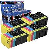 Alaska Cartouches d'encre Komp. Epson Lot de 3 Cartouches d'encre pour imprimante...