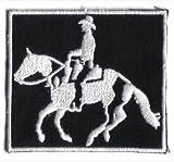 Westernreiten Cowboy Reiter Pferd für Schabracke oder Pferdedecke Aufnäher Patch Abzeichen