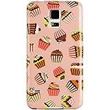 JAMMYLIZARD | Zuckersüße Cupcakes Back Cover Hülle mit Muster für Samsung Galaxy S5 / S5 Neo, KARAMELL